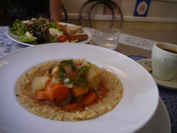 Cous Couse & Vegetables At Cafe Camelia, Gracia, Barcelona