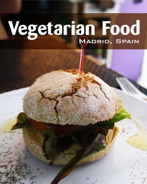 Vegetarian Food In Madrid Spain At Cafe El Mar