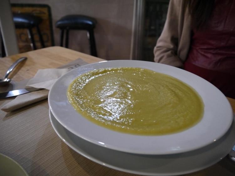 Seasonal Vegetable Soup At Gaia Bar Ecologico, Seville, Spain