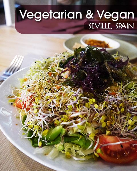 Green Salad With Seaweed & Germinated Seeds At Gaia Bar Ecologico, Seville, Spain