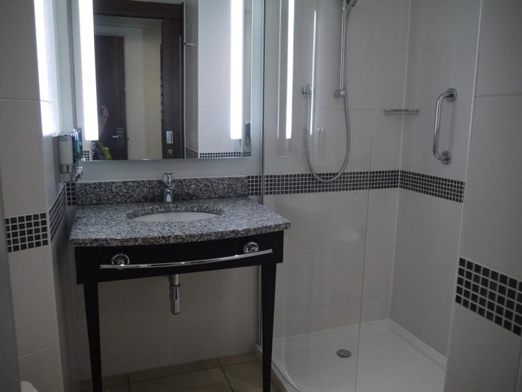Bathroom At Hampton By Hilton. Gatwick Airport