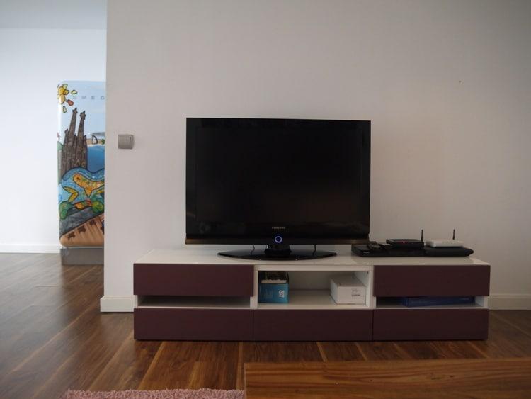 Large Flat Screen TV At Monica's Place, Gracia, Barcelona
