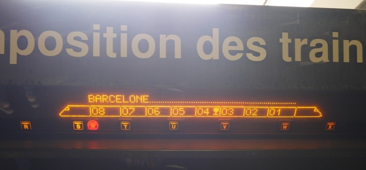 Composition Of Montpellier To Barcelona Train