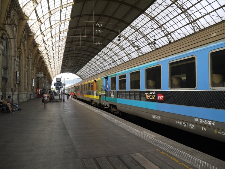 Nice To Montpellier Train At Nice Ville Station