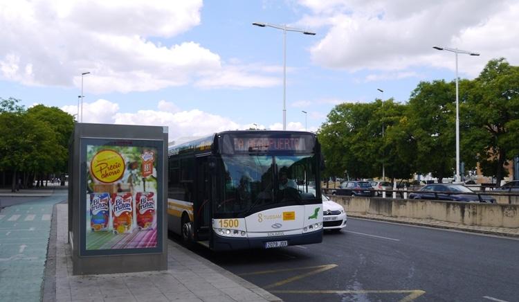 Seville Airport Bus Outside Plaza De Armas Bus Station