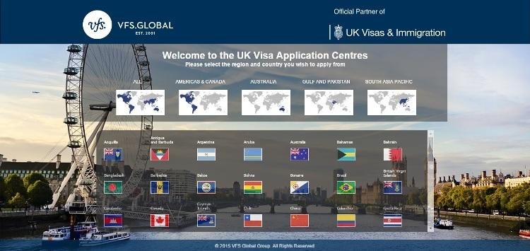 VFS Global UK Visa Application Website