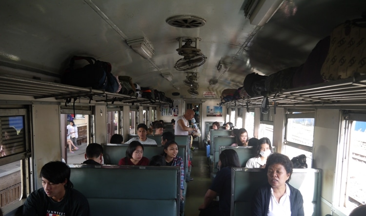 Bangkok Thonburi To Kanchanaburi 3rd Class Carriage