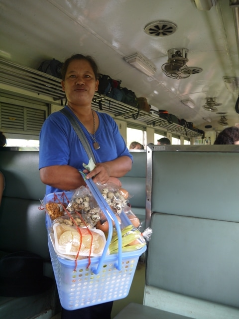 A Fruit Seller On The Bangkok Thonburi To Kanchanaburi Train