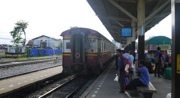 Our Train From Bangkok To Kanchanaburi