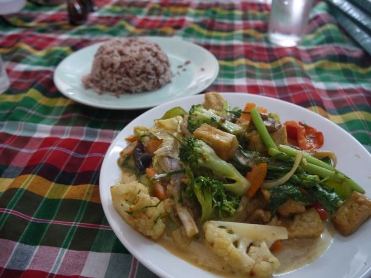 Panang Curry At On's Thai Isaan Vegetarian Restaurant, Kanchanaburi