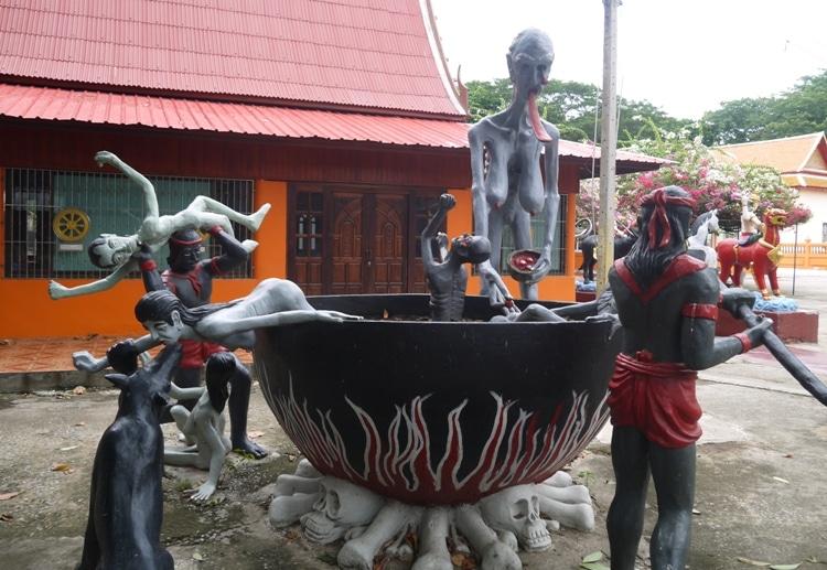 A Vision Of Hell At Wat Kai, Ayutthaya, Thailand