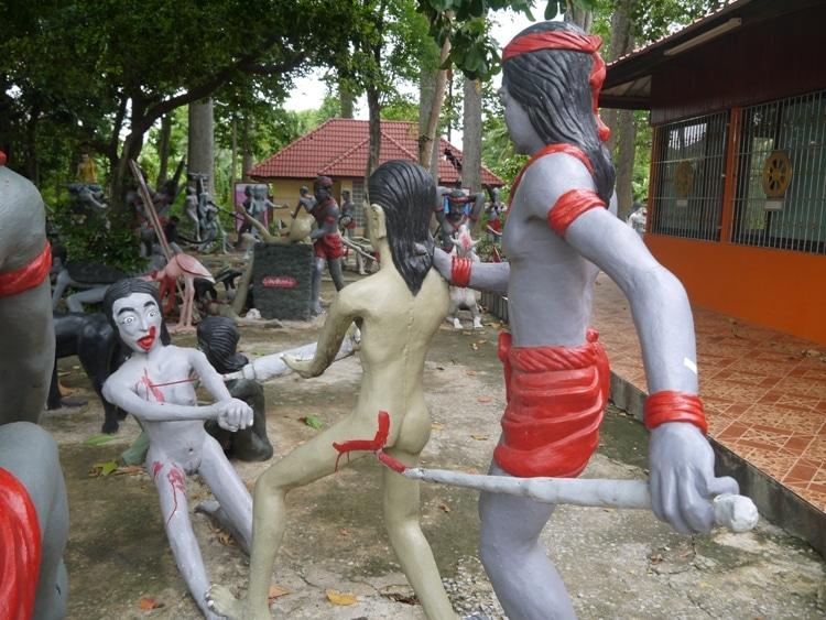 Stabbed With Needles At Wat Kai, Ayutthaya