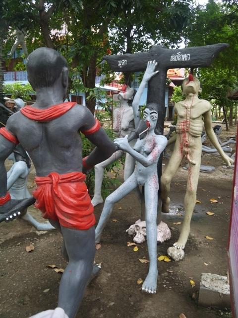 Hanging From A Cross At Wat Kai, Ayutthaya