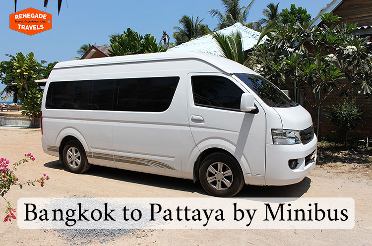 Take a minibus to travel between Bangkok and Pattaya in Thailand