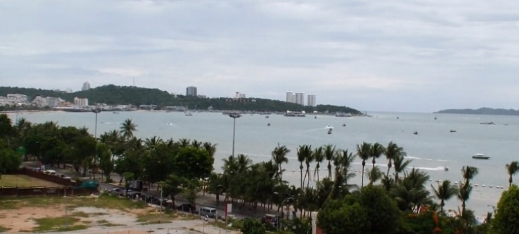 View From Our Room At Pattaya Discovery Beach Hotel