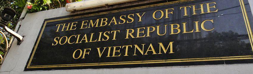 Vietnam embassy sign
