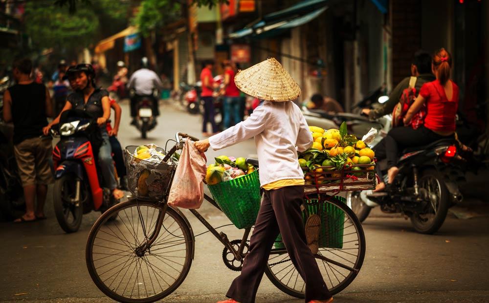 A street scene in Vietnam