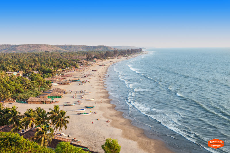 The Arambol Beach in Goa, India